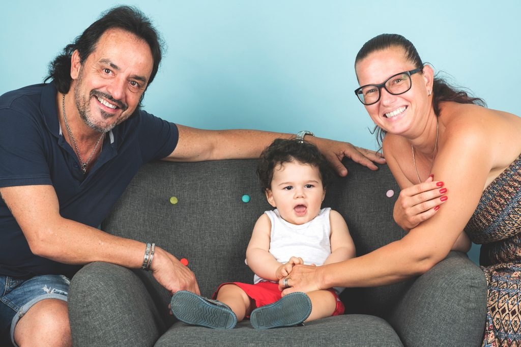 Foto di famiglia in studio