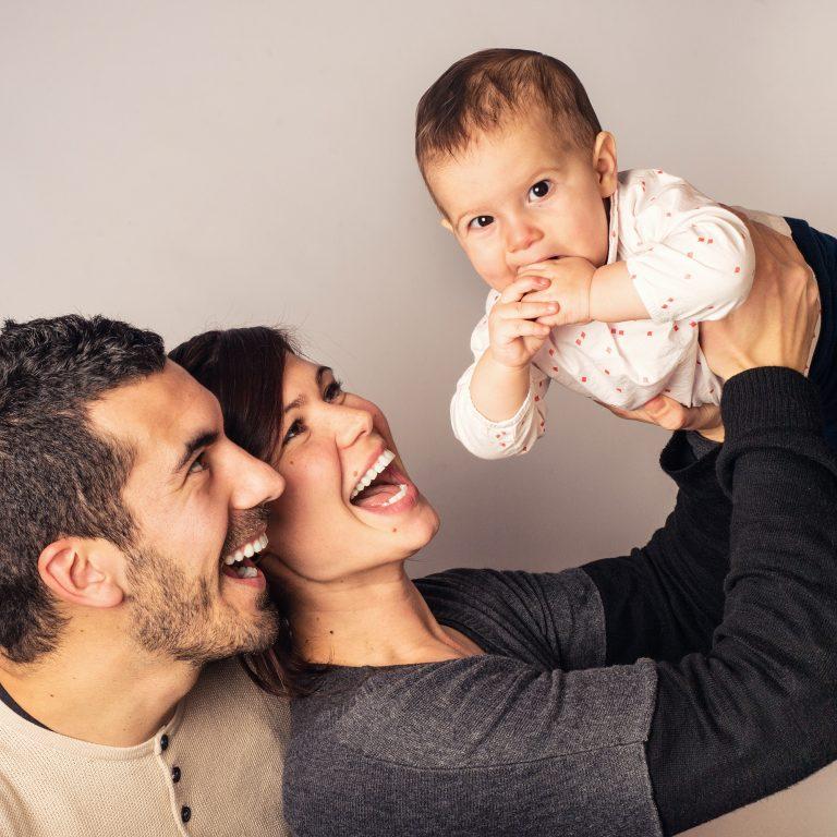 Foto di famiglia divertente