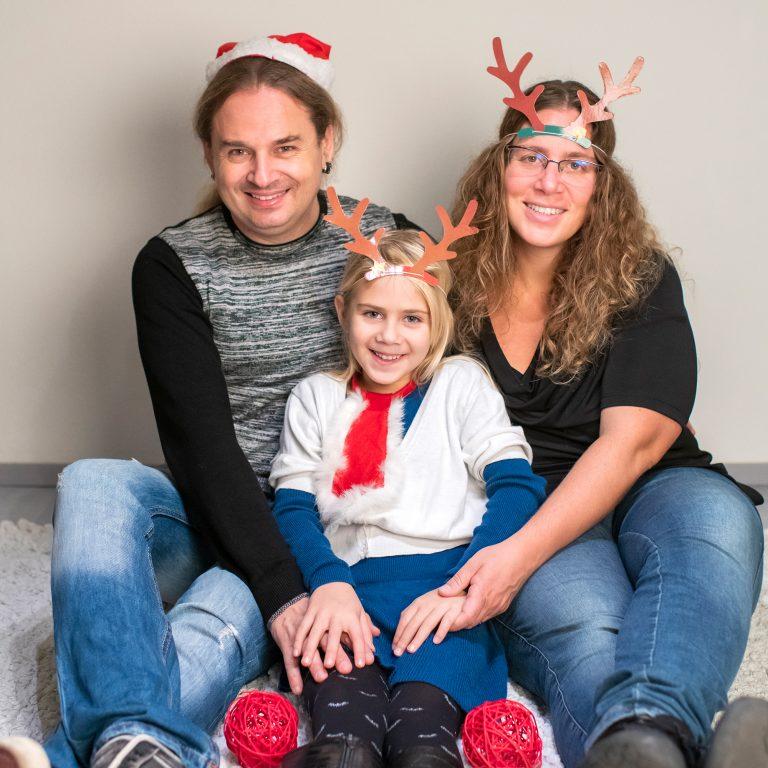 Fotografia famiglia natalizia