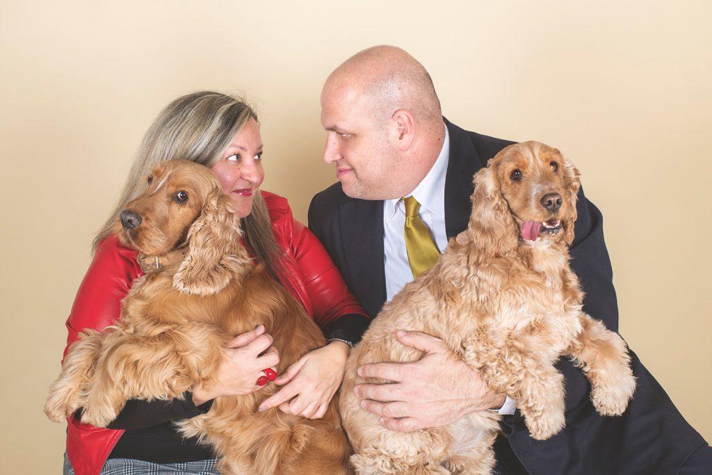 Foto di coppia con cani
