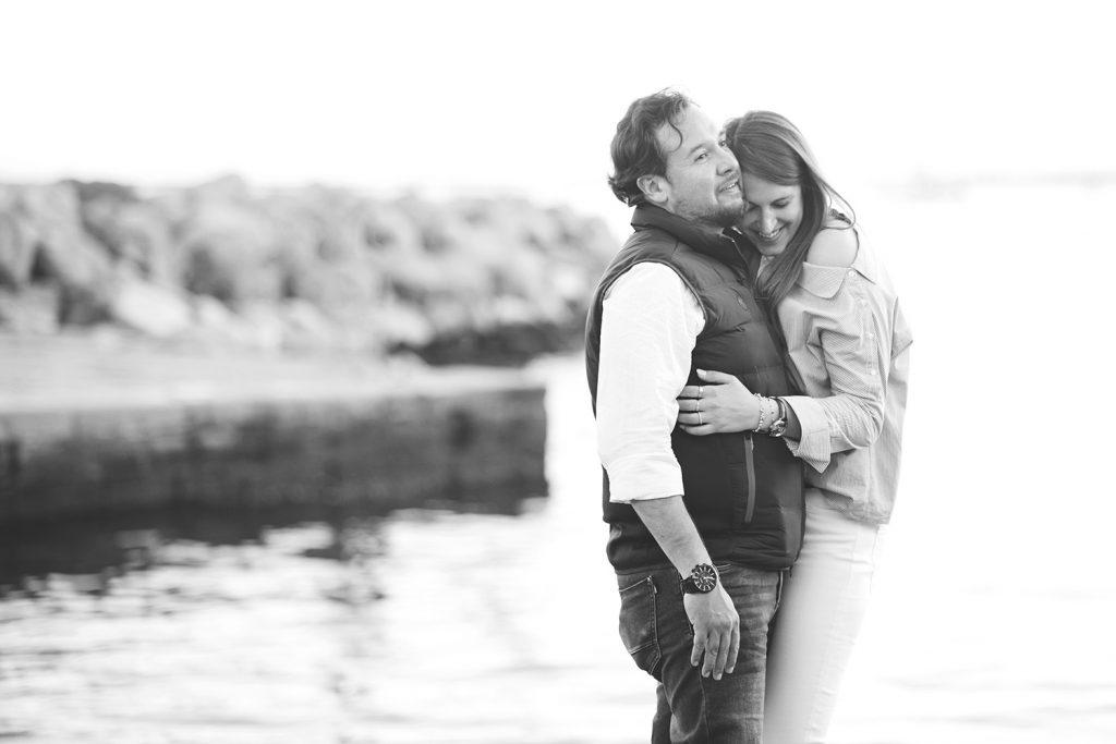 Shooting di coppia al mare