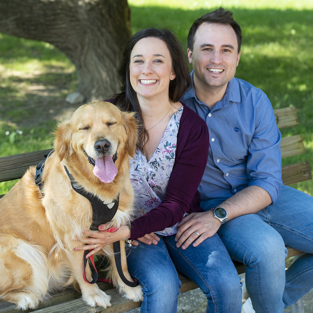 Fotografia coppia con cane