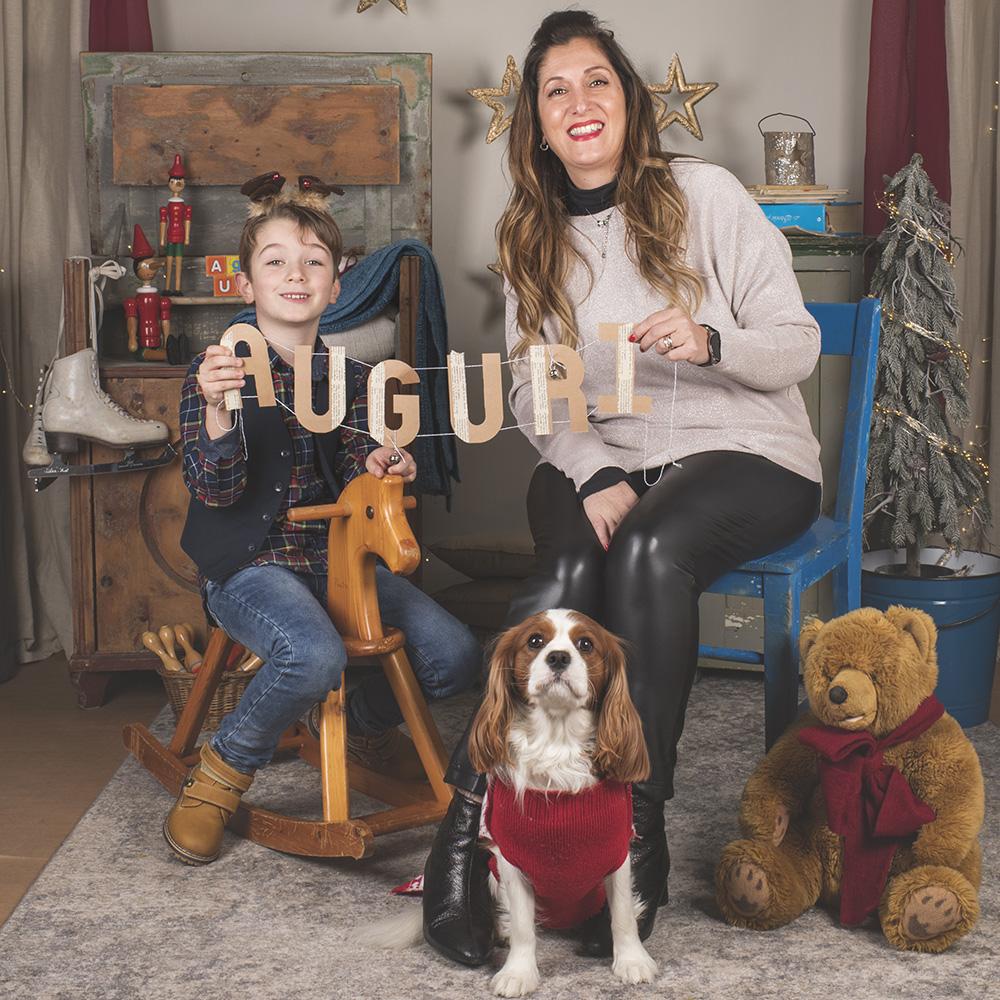 Foto di famiglia natalizia